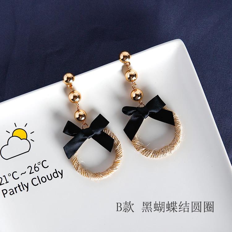 Cheap online Kepribadian rami tali dibesar-besarkan Cooljie anting-anting rajut Anting