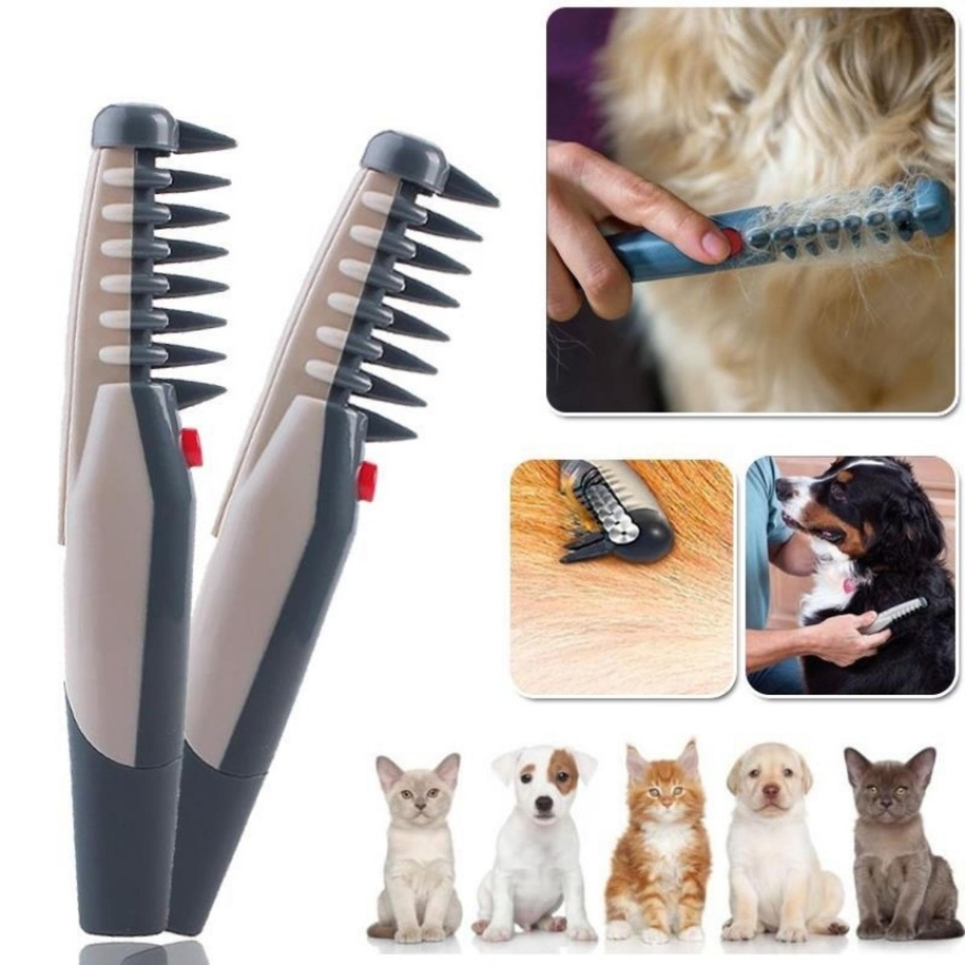 Knot Out Electric Pet Dog Grooming Comb Sisir Anjing & kucing Anti Kusut