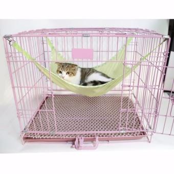 L Ukuran Pet Nest Kandang Kucing Hammock Bernapas Mesh Lubang Kucing Tempat Tidur Menggantung (hijau