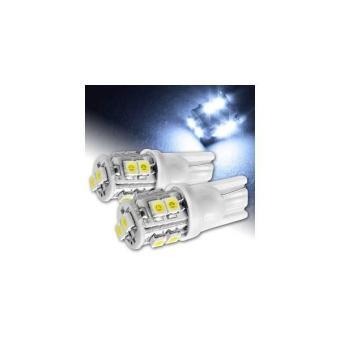 Lampu Senja LED T10 10 Mata (Cahaya Putih / Biru / Merah dan Hijau)