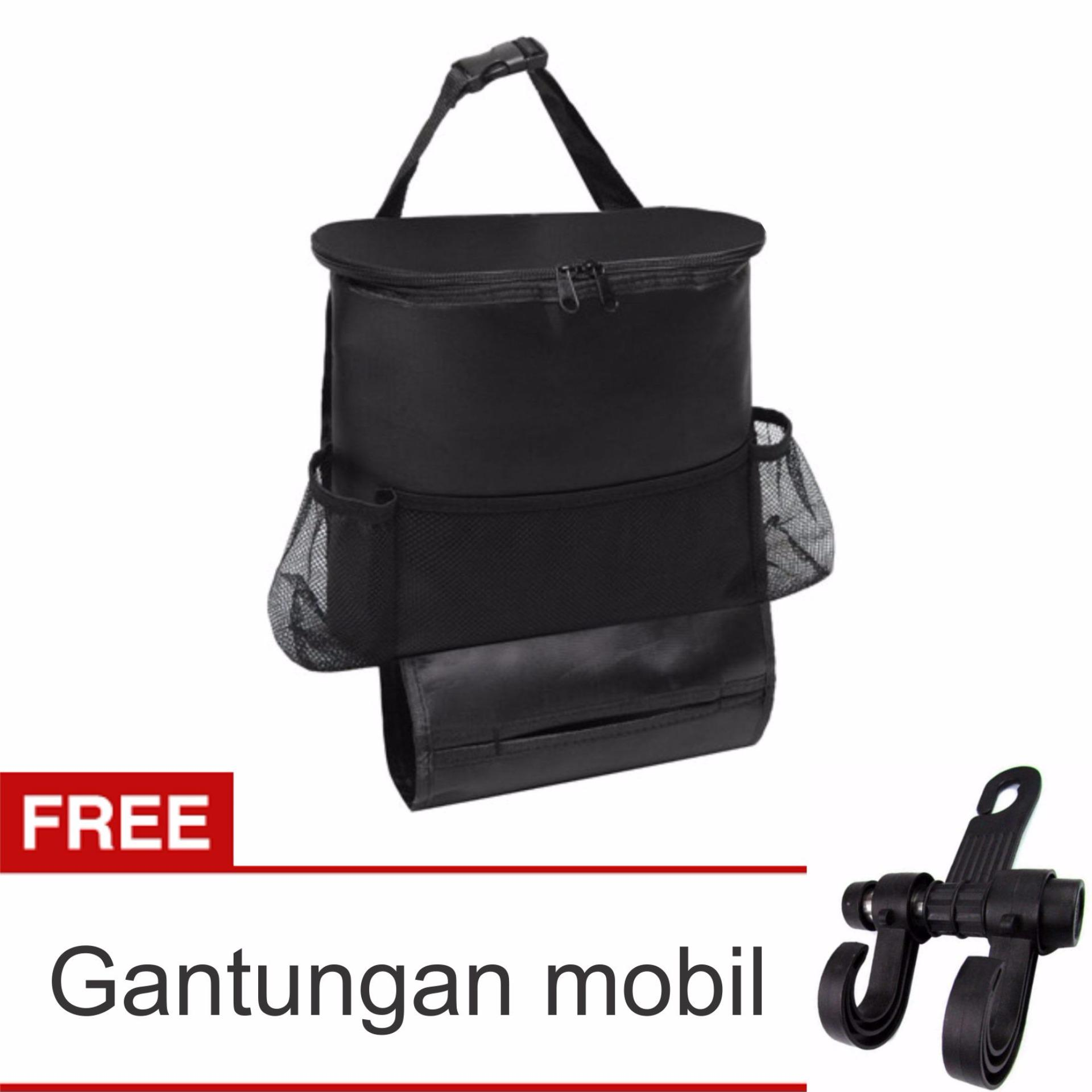 Lanjarjaya Car Seat Organizer Holder Travel Storage cooling HangingBag + Gantungan mobil(Black)