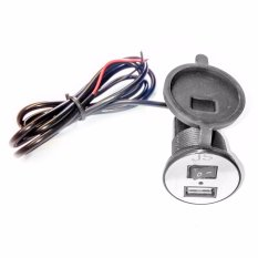 Lanjarjaya New USB Charger Motor Waterproof Cas HP di motor Hitam