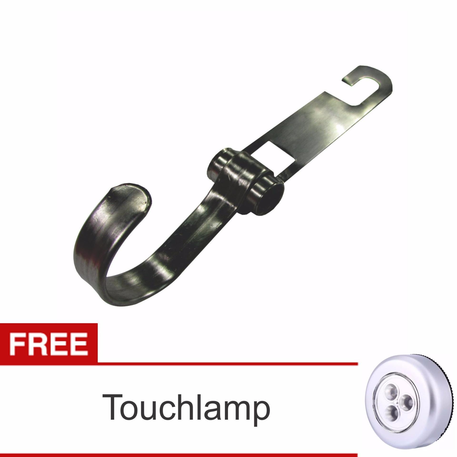 Lanjarjaya Stainless Steel Car Hanger Aksesoris Gantungan kursi jokSingle kait di Mobil + Touch Lamp