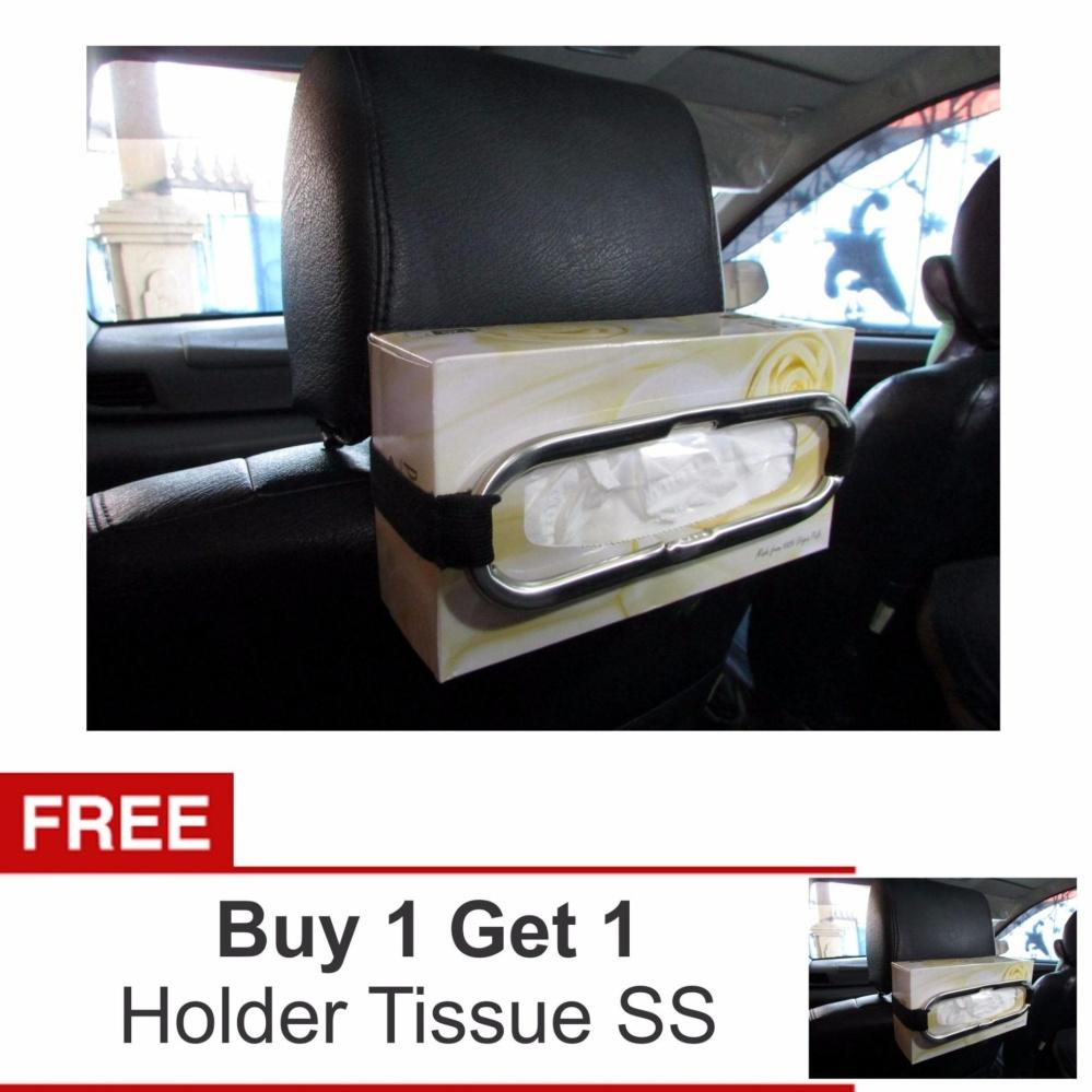... Lanjarjaya Stainless steel Tempat kotak Car Sun Visor Tissue Holder Tempat Tissue Gantung + Buy 1 ...