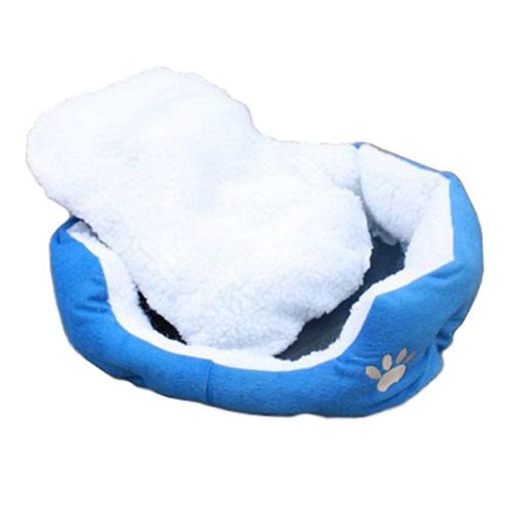 lanyasy Comfortable Puppy Kitten Nest Pad Soft Fleece Bed(M,DarkBlue) - intl