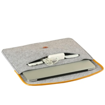 Laptop Sleeve Case Felt Cover for Apple Macbook Air 13.3 Inch Carrying Case Bag Anti-Shock (Grey) - intl