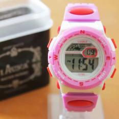Lasika Jam Tangan Anak Anti Air G 785 Pink White .