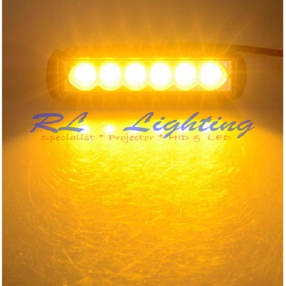 LED Lampu Tembak Sorot Worklight Cree Led Spot Lurus 6 Mata 18 Watt - Kuning ...