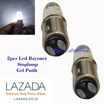 Led Stoplamp 12Led Gel Bayonet Nyala Strobo 2pcs - Putih