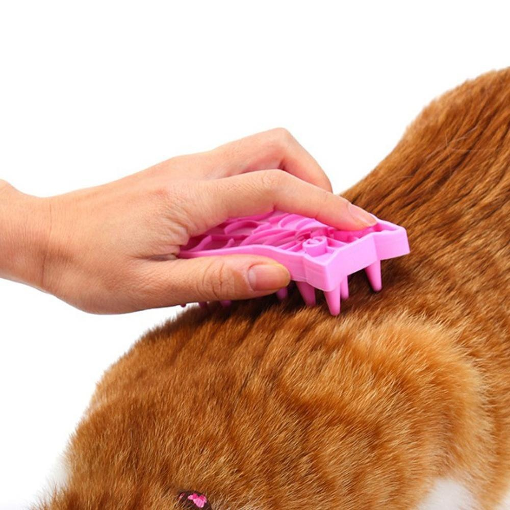 leegoal Cat Brush With Soft Silicone Bristles Grooming Tool/comb For Dogs And Cats - intl