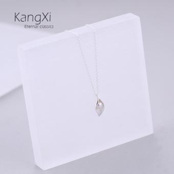 Cari Bandingkan Lianwuzhi S925 Korea Fashion Style sterling silver tanaman bunga asli cincin kalung Harga Termurah
