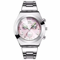 LONGBO Jam Tangan Wanita Luxury Fashion Casual Stainless Steel Quartz Analog Women Lady Watch - Pink