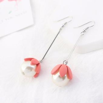 LRC Anting Gantung Lovely Watermelon Flower Shape Decorated Earrings