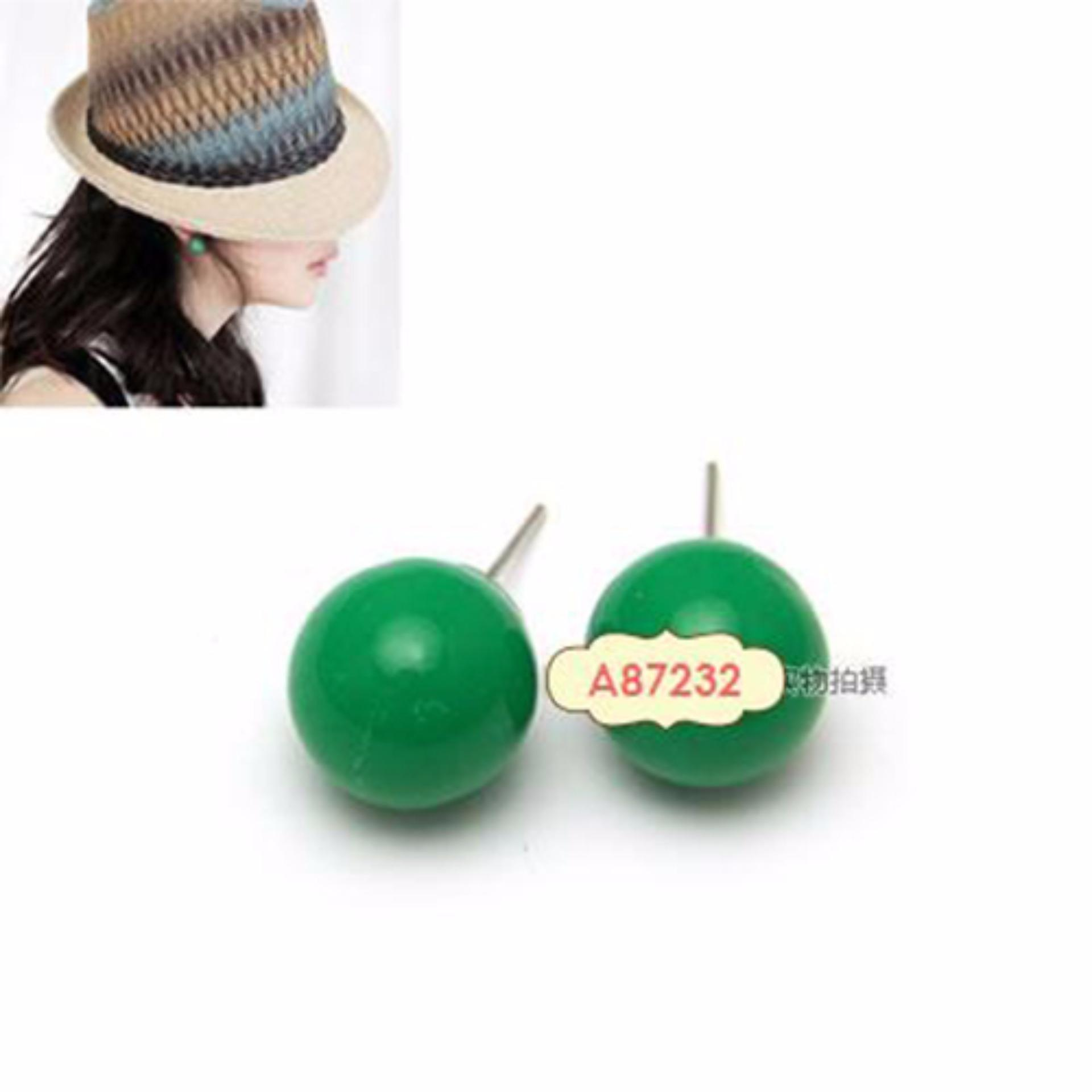 LRC Anting Elegant Fuzzy Ball Pendant Decorated Pure Color Simple Earrings ... Source · Color Matching Decorated Simple Bracelet.