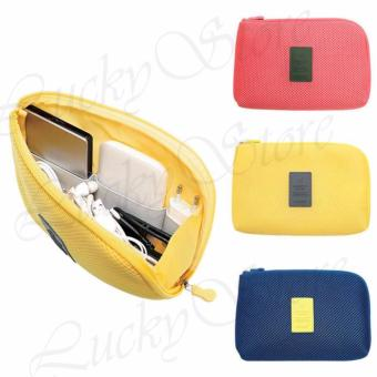 Lucky Dompet Tas Charger Kabel Power Bank Multifungsi Besar / Cable Pouch Travel - Random Colour