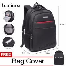 Luminox Tas Ransel Laptop Backpack Up to 15 inch Anti Air 5912 - Hitam Bonus Jas Hujan
