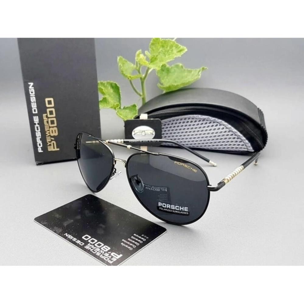 lunashop fashion Kacamata Sunglass Pria Porsche Design 1881Z Super Fullset T1310 black