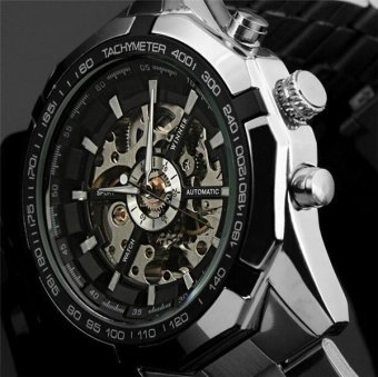 Luxury Sport Clock Men Automatic Watch Skeleton Military Watch Mechanical Relogio Male Montre Watch Mens Relojes - intl