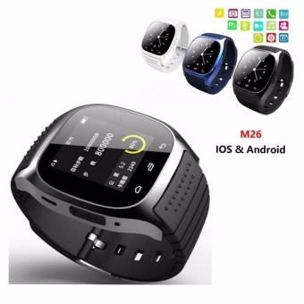 M26 Bluetooth Smart Wrist Watch Sync Phone Mate for Android iOSSmartphone Black - intl