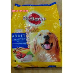 Makanan Anjing Dewasa Pedigree 3kg Chicken & Vegetables Flavor