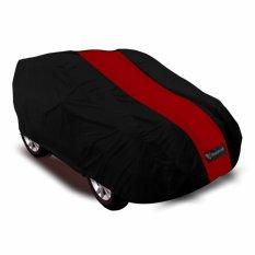 Mantroll Cover Mobil Honda Jazz - Hitam-Strip Merah