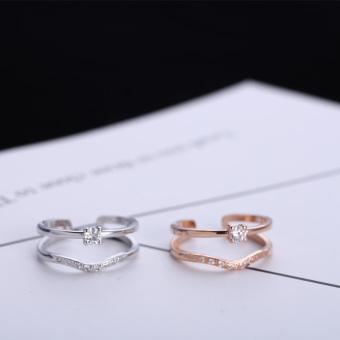 Masuknya orang ke Jepang dan Korea Selatan perempuan cinta berlian cincin pembukaan cincin