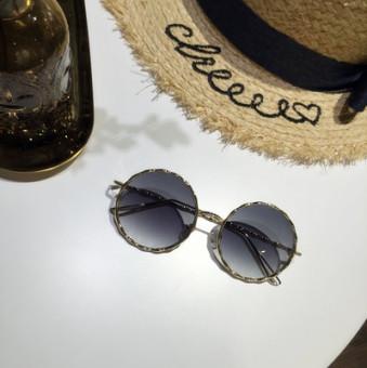 Periksa Peringkat Masuknya orang Korea Fashion Style warna baru perempuan kacamata hitam model perempuan kacamata hitam
