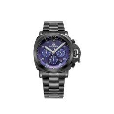 MEGIR Jam Tangan Pria Stainless Steel Fashion Business Sport Casual Army Military Quartz Chronograph Stopwatch MS
