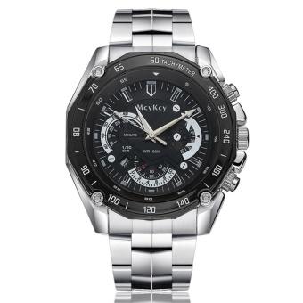 Men Business Calendar Automatic Watch Women Steel Sport Watch(Black) - intl