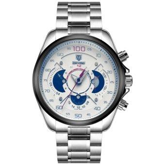 Men Watch Automatic Mens Waterproof Leisure Men's Stainless Steel Strap Watch - intl