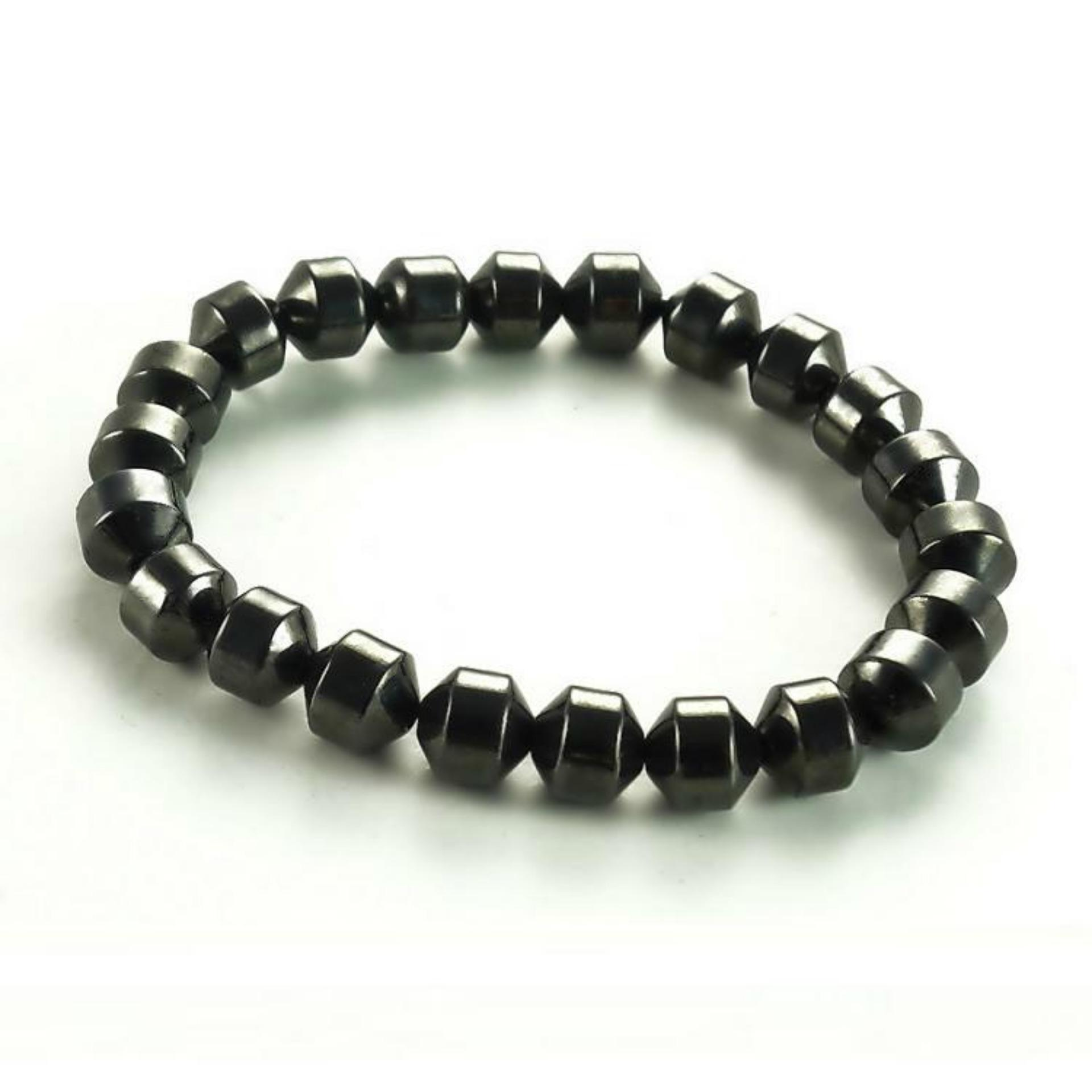 Mens Jewelry Two Element Brazilian Magnetic Ion Health Therapy Gelang Kesehatan Bio Faceted Style Bracelet