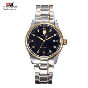 Men's Fashion Watch Automatic Waterproof Hollow Men Business Wristwatch Black Dial - intl