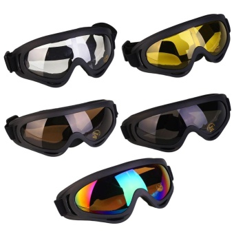Mens oversized Sunglasses Matte Black Rubberized Polarized MotorCycle Sport Hot - intl