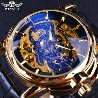 Mens Watches 2016 Navigator Series Top Brand Luxury Skeleton Mechanical Watch Clock Men Gold Watches Men Wristwatch Montre - intl