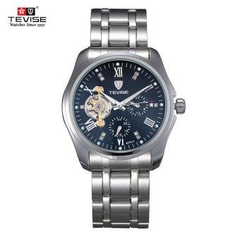 Men's Watches Mechanical Watches Men's Tide Meter Hollow Automatic Steel Black Dial - intl