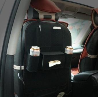 Merasa kursi belakang mobil tergantung kantong kain tas Dai Zhiwu mobil dengan tas dari kotoran kotak penyimpanan (Hitam) ...