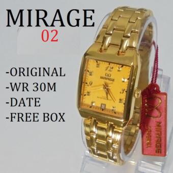 Mirage Jam Tangan Wanita Original - strap Stainless - MG 4120