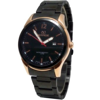 Mirage MH8009 Date Jam Tangan Pria Stainless Steel - Hitam-Gold