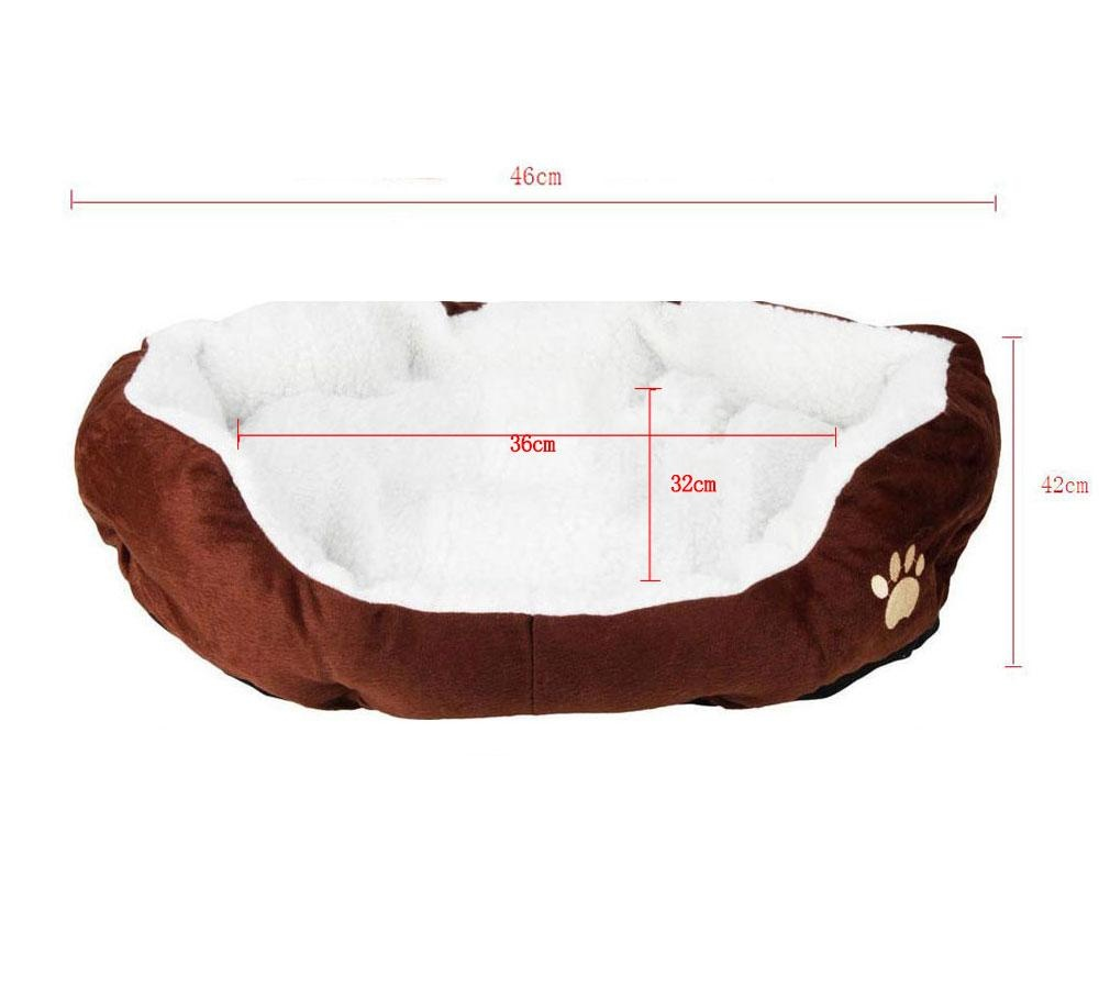 miyifushi Comfortable Puppy Kitten Nest Pad Soft Fleece Bed(M,Coffee) - intl