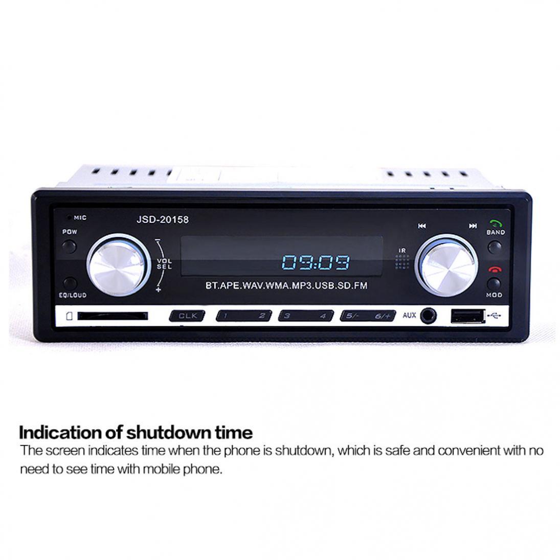 Mobil stereo Bluetooth audio 1 din di-Sengkang radio FM aux masukanUSB .