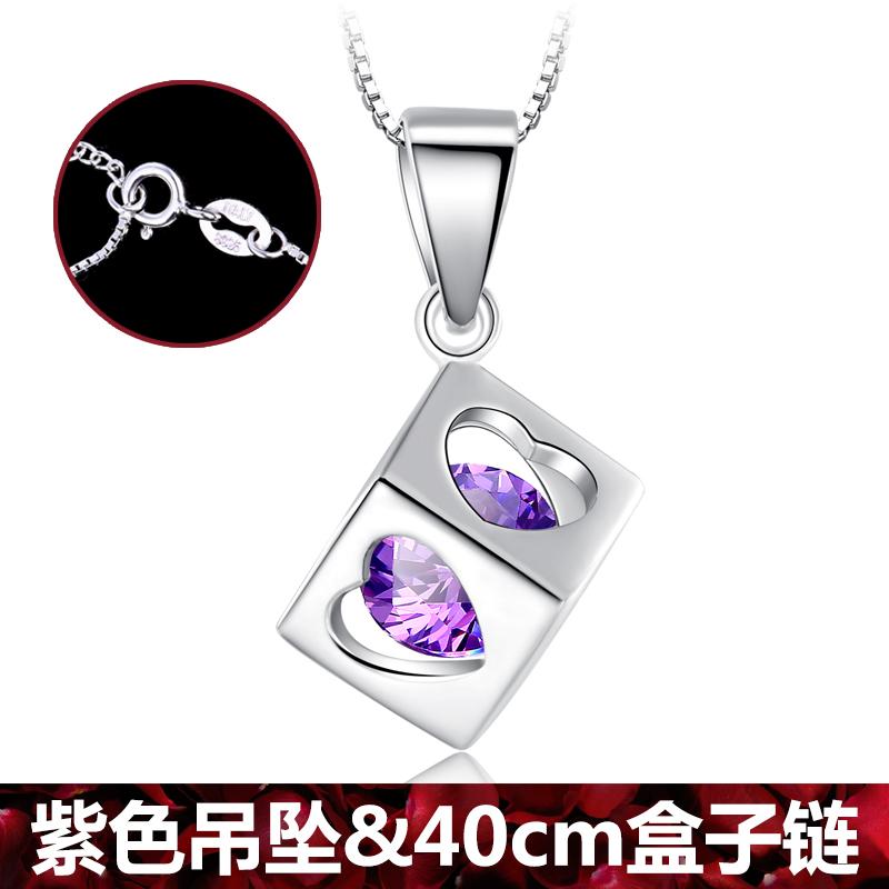 Mode 925 sterling silver ulang tahun perhiasan kalung liontin