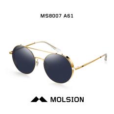 Molsion ms8007 retro logam untuk pria dan wanita putaran kacamata hitam kacamata hitam