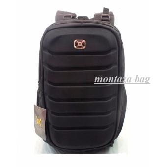 Detail Gambar Montaza Gear Bag Laptop + Free Raincover Tas Ransel Laptop OLD Aligator Hitam Terbaru