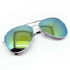 Moreno Kacamata Polarized Ray Vintage Women and Man Outdoor - Silver