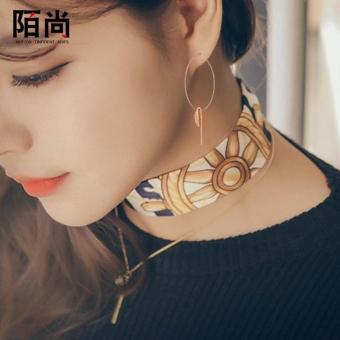 Gambar MOVSOINA 18 k Korea Fashion Style naik berlapis emas geometris Korea anting anting