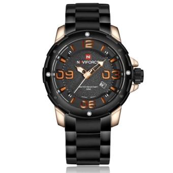 NAVIFORCE NF9078 Stylish Men's Stainless Steel Quartz Wrist Watch Orange - intl