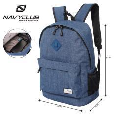 Navy Club Tas Ransel Laptop Kasual EIBB Backpack Up to 14 inch Daypaack - Biru