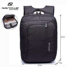 Navy Club Tas Ransel Laptop Tahan Air 5850 Backpack Up to 15 inch - Hitam