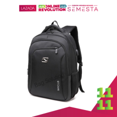 Navy Club Tas Ransel Laptop - Tas Pria Tas Wanita - Backpack built in USB Charger Up to 15 inch Anti Air 62062 - Black Bonus Cover Tas