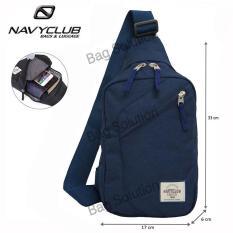 Navy Club Tas Selempang Travel - Tas Punggung Tahan Air - Sling Bag Tas Pria Tas Wanita 5032 - Biru Tua b